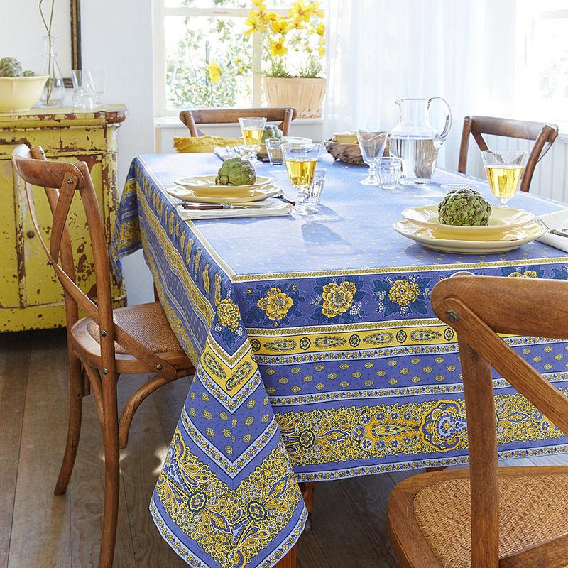 tischdecke zaubern sie die sonnenfarben der provence auf. Black Bedroom Furniture Sets. Home Design Ideas