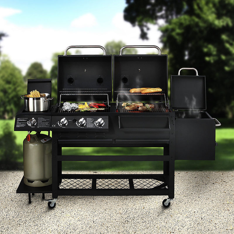 4 funktionen luxusgrill holzkohlegrill gasgrill r ucherkammer gaskochstelle hagen grote shop. Black Bedroom Furniture Sets. Home Design Ideas