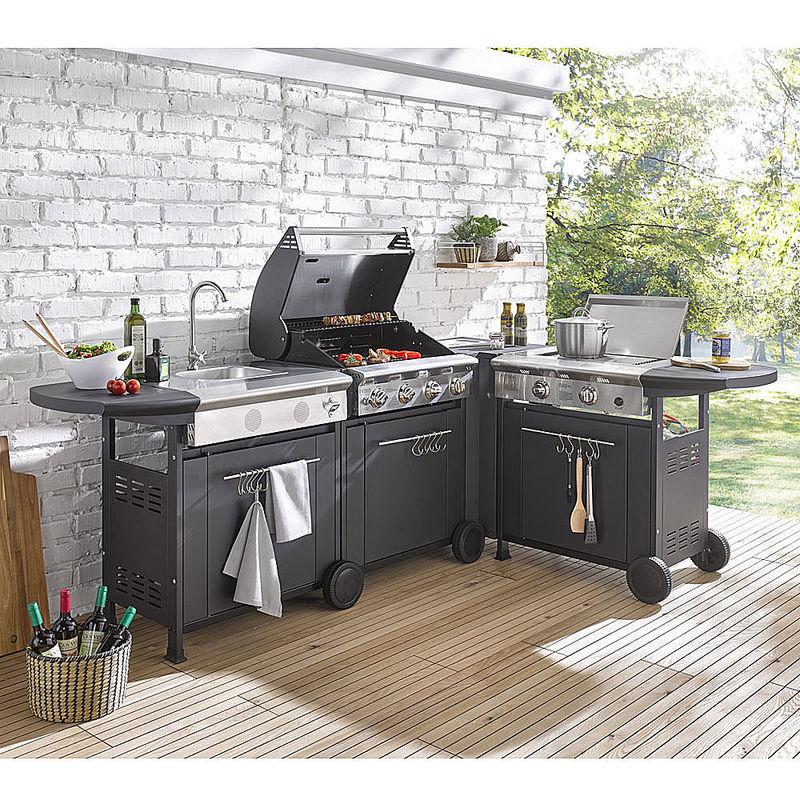 modul sp ltisch wachsende grillk che mit frei. Black Bedroom Furniture Sets. Home Design Ideas