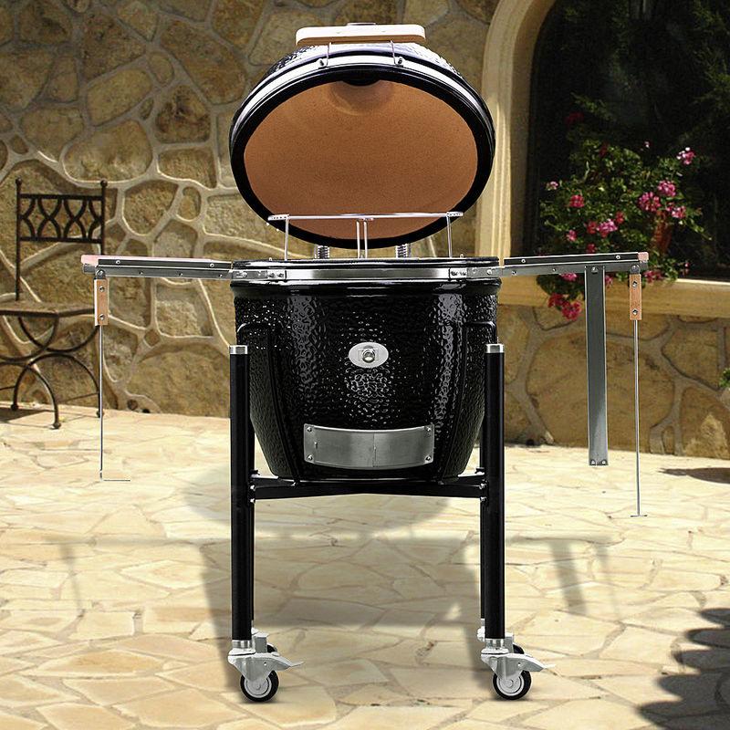keramik-grillküche: niedertemperatur-garen, räuchern, brot backen