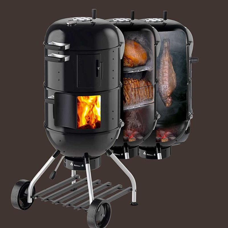 grillen und r uchern im smoker kleinster mobiler gasgrill. Black Bedroom Furniture Sets. Home Design Ideas