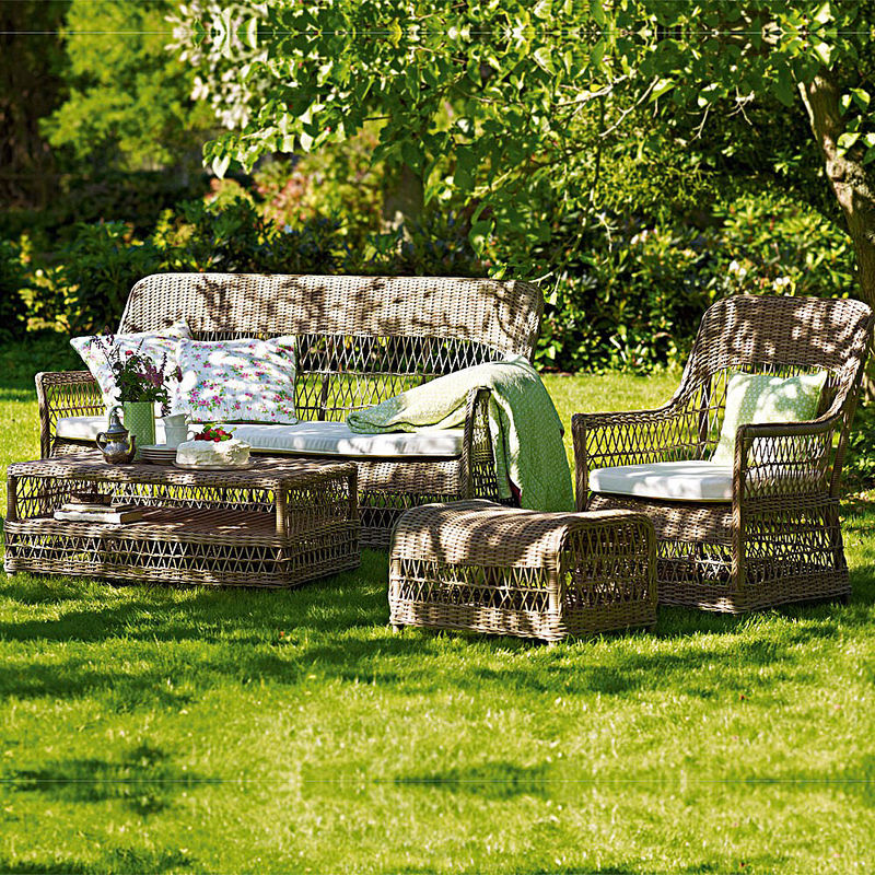 set wetterfeste gartenm bel im britischen kolonialstil julia grote shop. Black Bedroom Furniture Sets. Home Design Ideas
