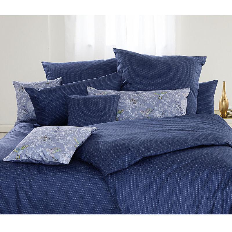 Bettwäsche Motiv Allover Print Blau Elegant Gemusterte Satin