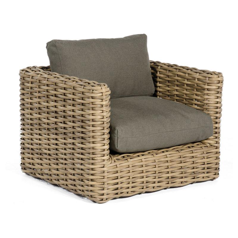 Premium Lounge Gartensessel Aus Wetterfestem Polyrattan Geflecht