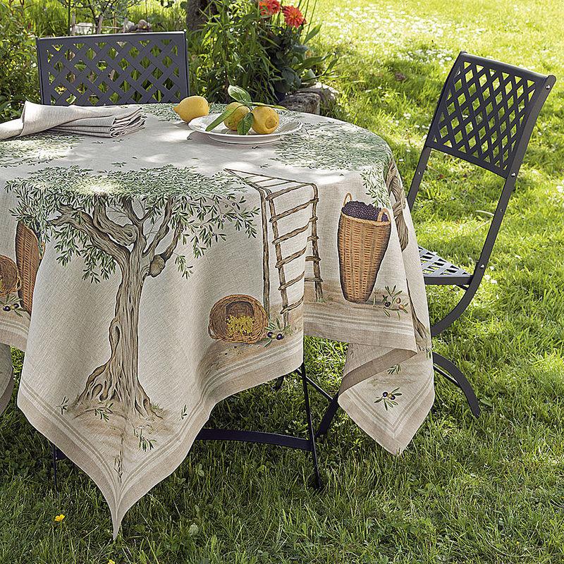 servietten mediterrane leinen tischw sche mit kunstvoll. Black Bedroom Furniture Sets. Home Design Ideas