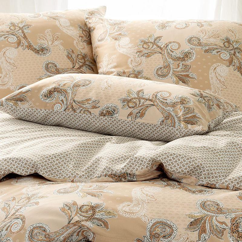 kissen elegante wende bettw sche mit stilvollem paisleymuster auf edlem satingewebe julia. Black Bedroom Furniture Sets. Home Design Ideas