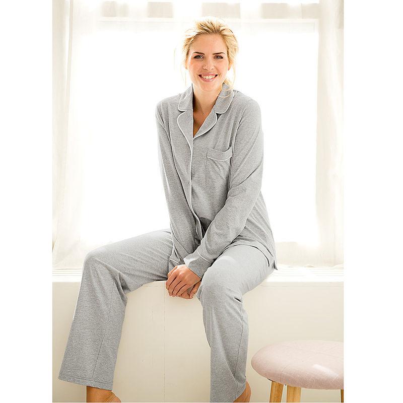 Pyjama sportlich elegante nachtw sche im klassischen pyjama stil julia grote shop - Sportlich elegante mode ...