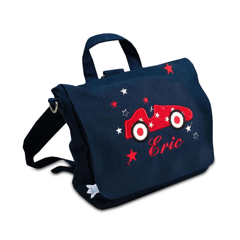 tasche auto mit namenszug unverwechselbar kindergartentasche und rucksack in einem julia. Black Bedroom Furniture Sets. Home Design Ideas