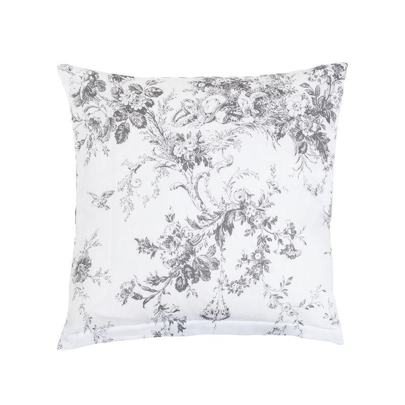 kissenbez ge romantische toile de jouy motive auf seidiger satin bettw sche julia grote shop. Black Bedroom Furniture Sets. Home Design Ideas