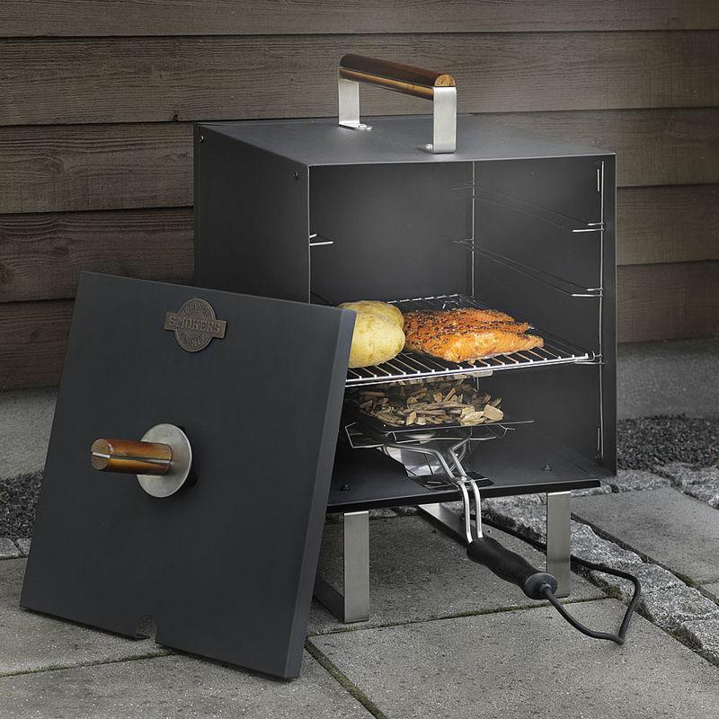 kleiner elektro r ucherofen macht fisch und fleisch saftig und zart hagen grote shop. Black Bedroom Furniture Sets. Home Design Ideas
