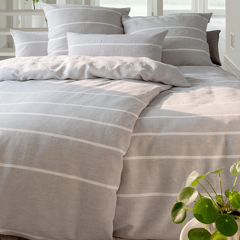 bettw sche moderner knitter look aus anschmiegsamem baumwoll leinen mix julia grote shop. Black Bedroom Furniture Sets. Home Design Ideas