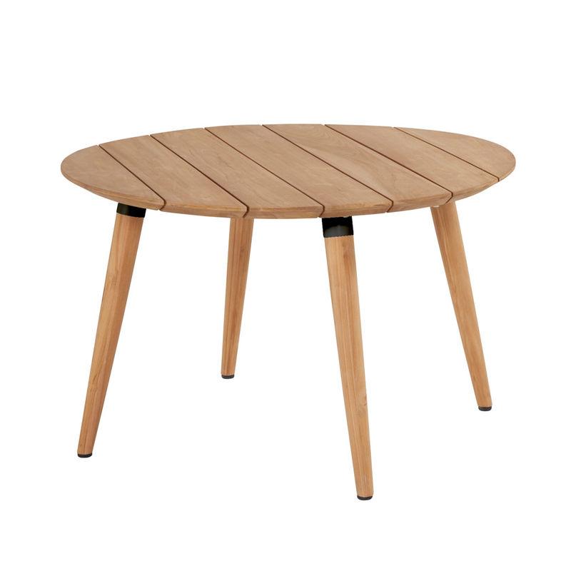 Hochwertiger Teakholz Tisch Rund Für Langlebigen Outdoor Gebrauch