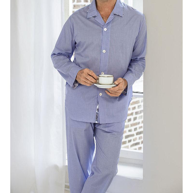uk availability 065aa 13441 Klassischer Herren-Pyjama in zeitloser Fil-à-Fil-Optik