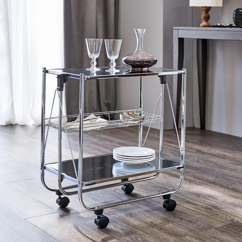 stahl verchromter designer servierwagen hagen grote shop. Black Bedroom Furniture Sets. Home Design Ideas