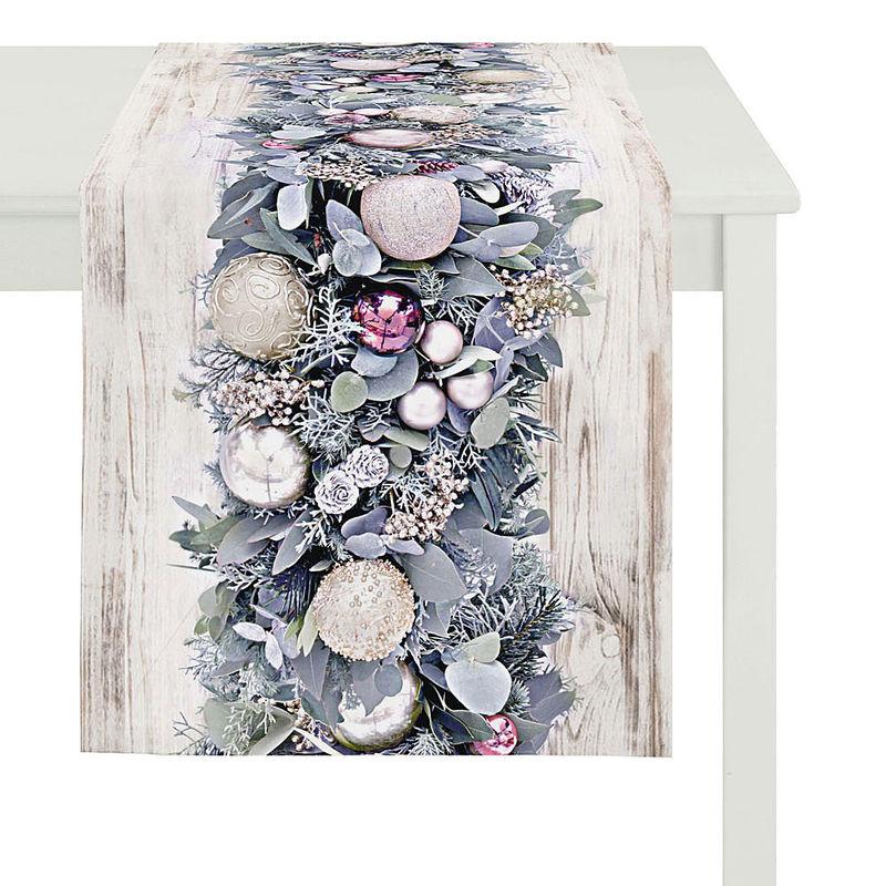 tischl ufer modern interpretierte weihnachtstischw sche mit fotorealistischen motiven julia. Black Bedroom Furniture Sets. Home Design Ideas