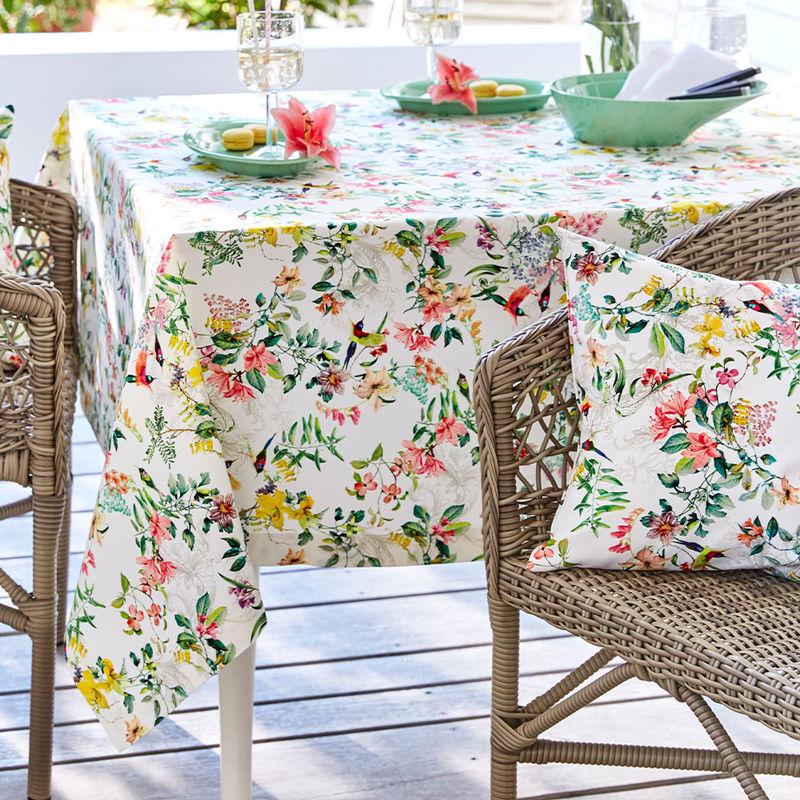 Unempfindliche Tischdecke Mit Fleckschutz Für Drinnen Und Draußen