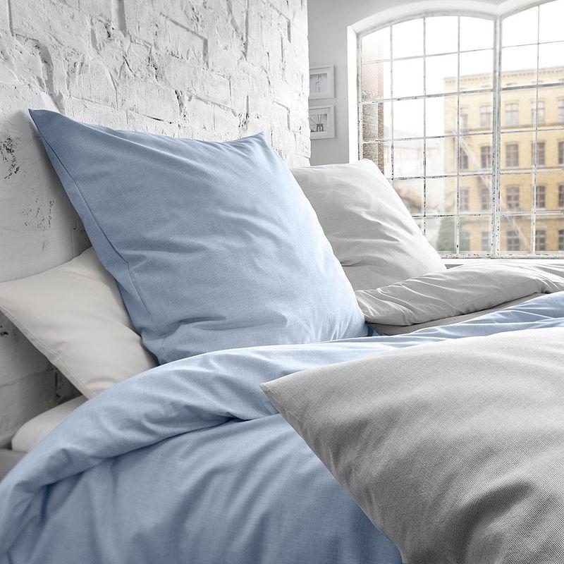 naturreine baumwoll bettw sche mit feiner webstruktur. Black Bedroom Furniture Sets. Home Design Ideas