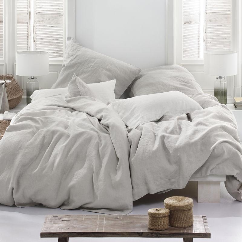 Bettbezug: Leinenbettwäsche aus schwedischer Manufaktur