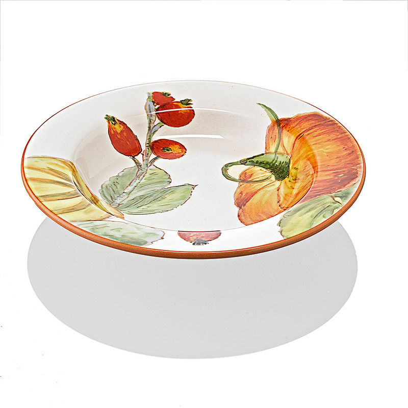 tiefe teller hochwertige italienische keramik mit herbstlichen k rbismotiven hagen grote shop. Black Bedroom Furniture Sets. Home Design Ideas