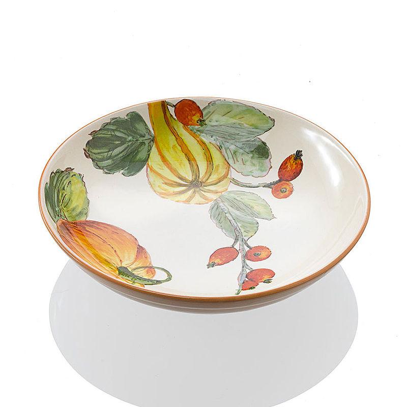 pasta salatschale hochwertige italienische keramik mit herbstlichen k rbismotiven hagen. Black Bedroom Furniture Sets. Home Design Ideas