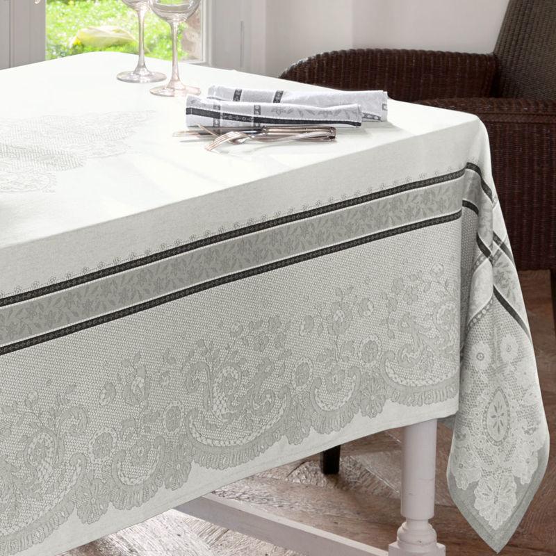 jacquard tischdecke zeigt aufw ndiges alen onspitzen. Black Bedroom Furniture Sets. Home Design Ideas