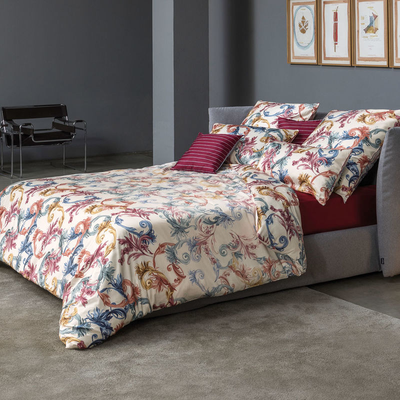opulent gemusterte satin bettw sche aus italienischer traditionsmanufaktur julia grote shop. Black Bedroom Furniture Sets. Home Design Ideas