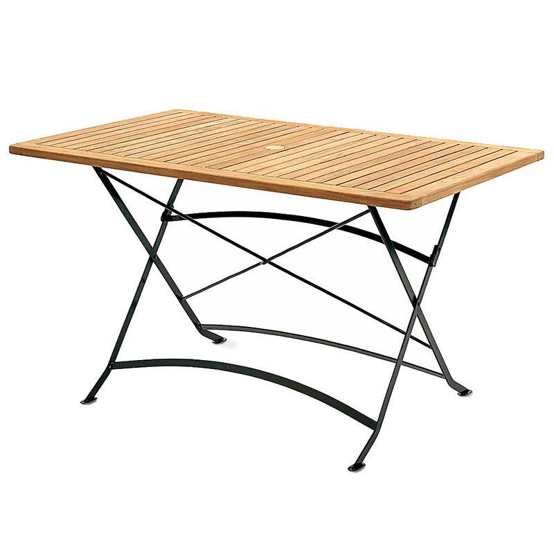wetterfest langlebig und leicht gartentisch aus teak und pulverbeschichtetem stahl hagen. Black Bedroom Furniture Sets. Home Design Ideas