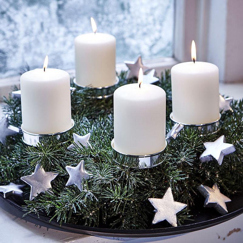 Versilberte Adventskranz Kerzenhalter Zum Stecken Julia Grote Shop