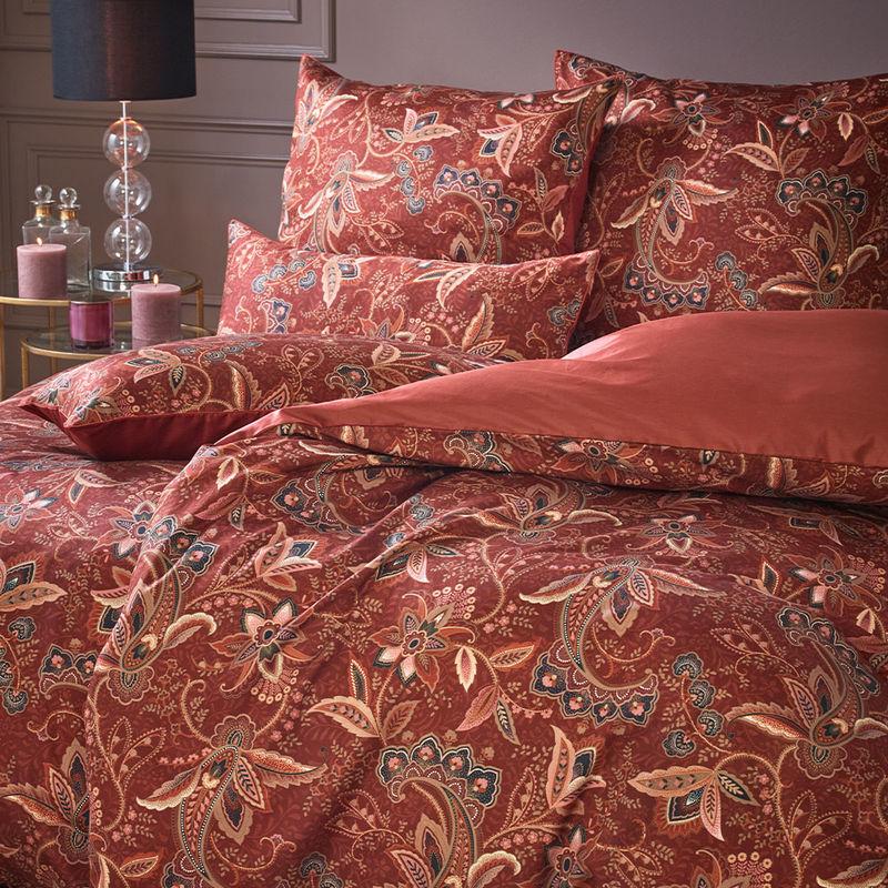 Satin Bettwasche Mit Floralem Paisley Muster