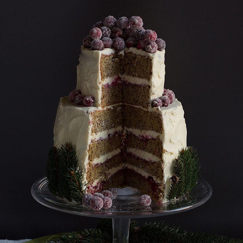 Fesselnd Winter Wonderland Torte Mit Cranberrys