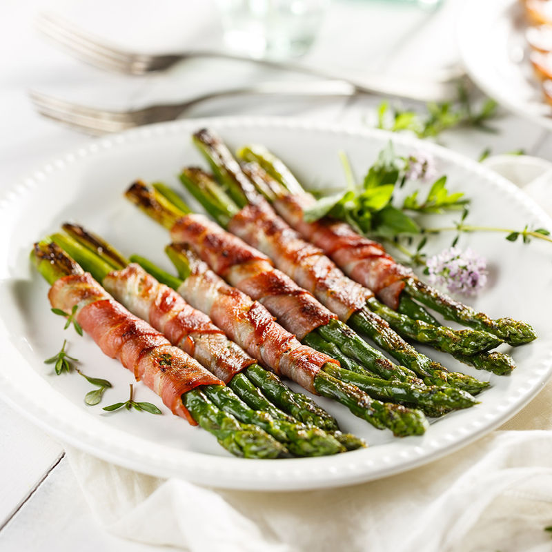 Esparrago con bacon - Spargel in Bacon