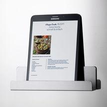 Magnetischer Buch- und Tablethalter schafft Ordnung in Küche und Büro
