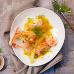 Low Carb Fenchel mit Scampi in Orangen-Safransauce