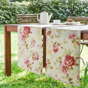 tischl ufer romantische englische rosenmotiv tischw sche. Black Bedroom Furniture Sets. Home Design Ideas