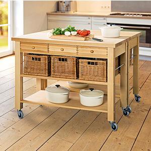 Küchenmöbel preiswert  Mobile Küchenmöbel mit Küchenkörben - massiv, solide, preiswert ...
