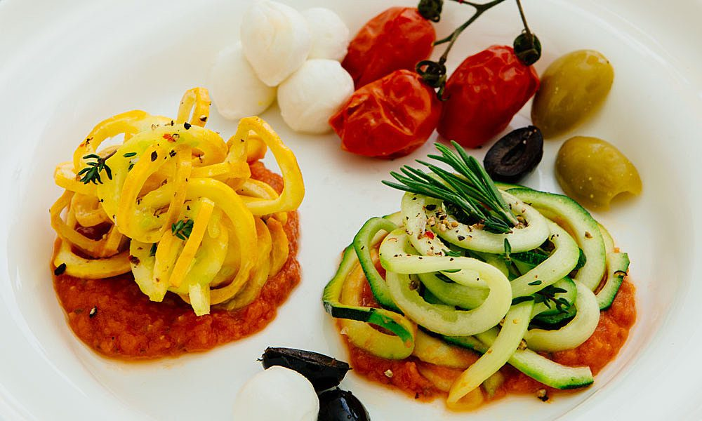 Rezept Zucchini Bavette mit San Marzano Tomatensauce