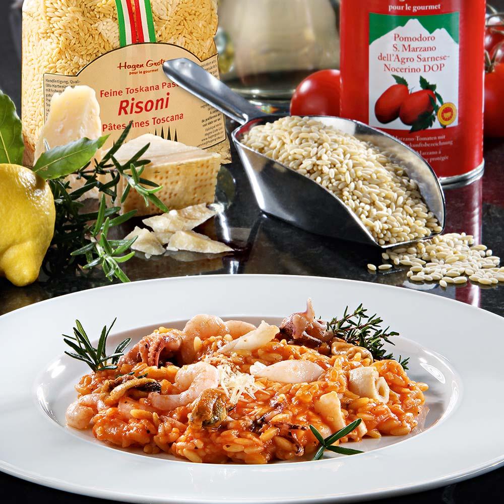 Risoni-Risotto mit Meeresfrüchten