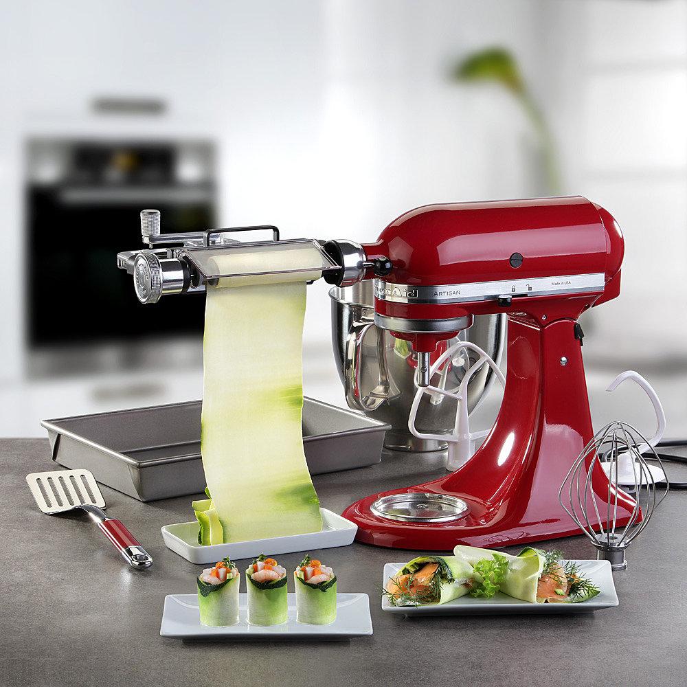 KitchenAid Küchenmaschine Artisan mit Gratis Gemüseblattschneider und Zubehör