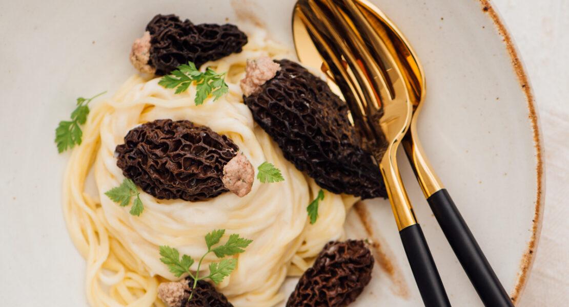 Rezept Gefüllte Morcheln mit Taglierini und Morchel-Rahmsauce