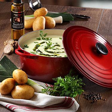 Trüffel-Kräuteröl Kartoffelsüppchen