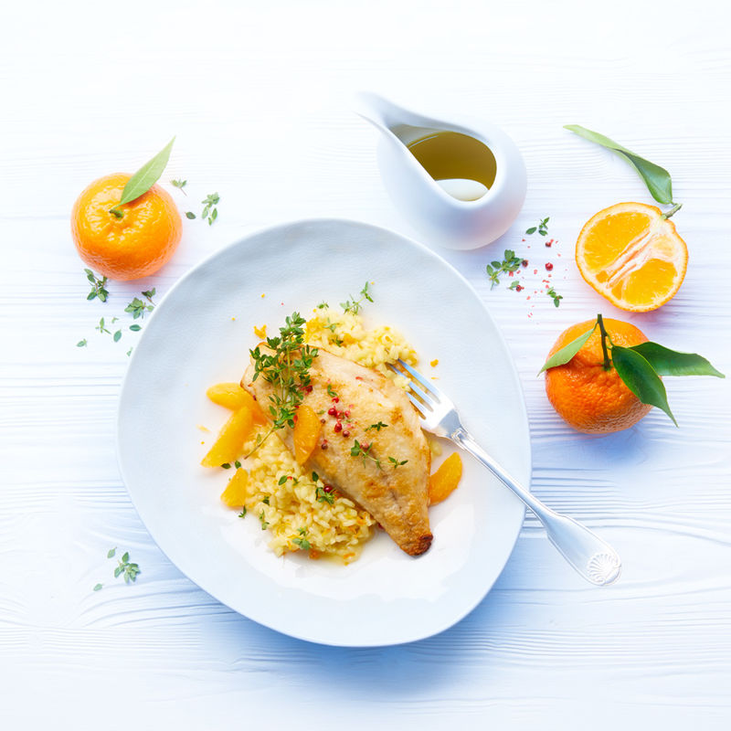 Mandarinen Risotto